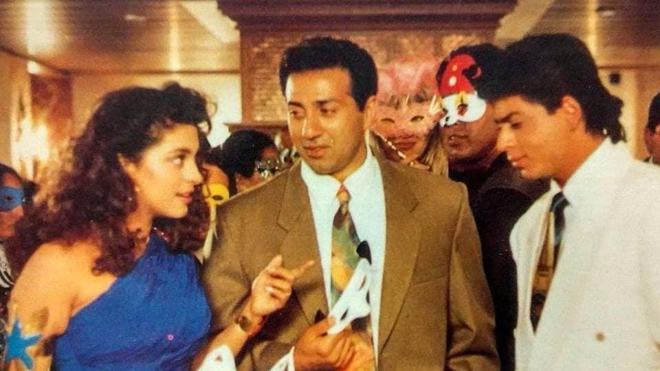 Sunny Deol, Juhi Chawla and Shah Rukh Khan in a still from Darr.