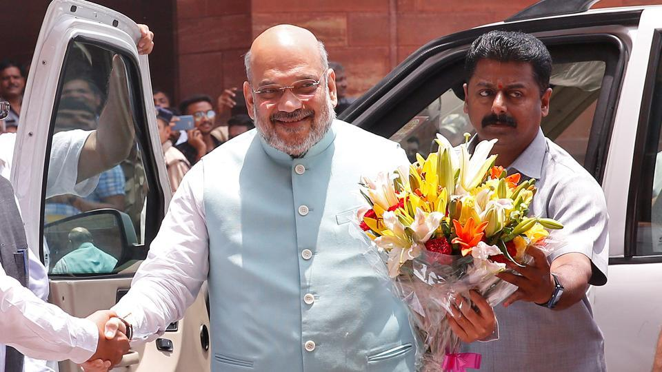 """Union home minister Amit Shah tweeted his praise for the men in blue for their """"strike on Pakistan"""""""