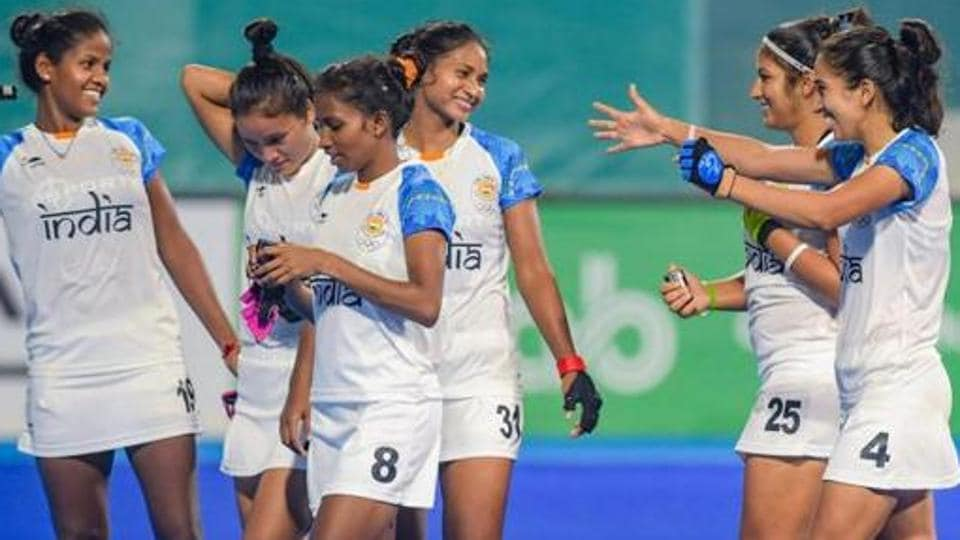 File image of players of Indian women's hockey team.