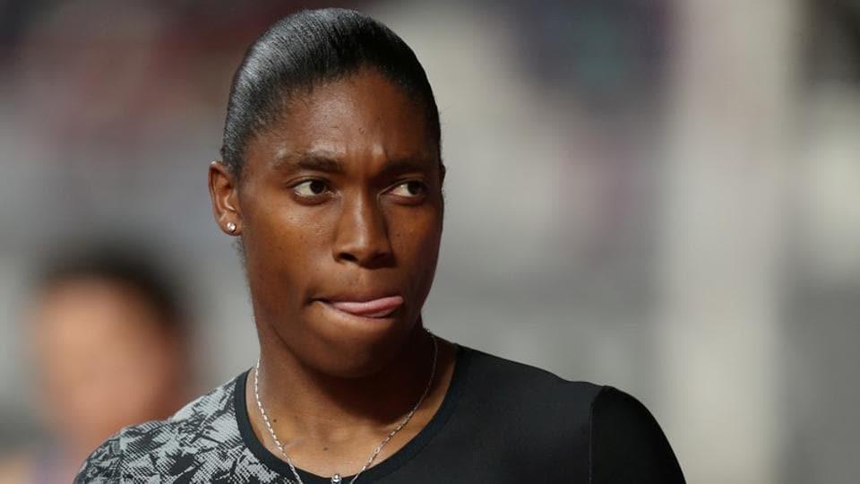 South Africa's Caster Semenya before the women's 800m.