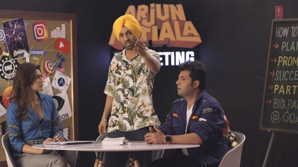 Arjun Patiala promo: Diljit Dosanjh, Kriti Sanon promise a trailer as honest as desi ghee. Watch