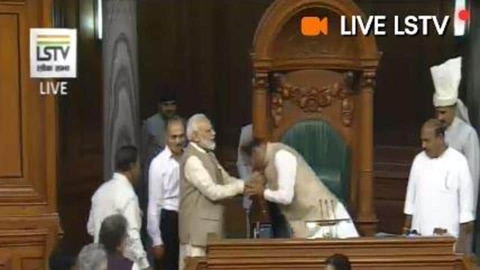 The motion to elect Om Birla as the Lok Sabha speaker was moved by Prime Minister Narendra Modi. The motion was passed by by voice vote.