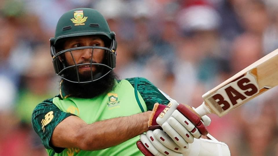 Hashim Amla in action against New Zealand.