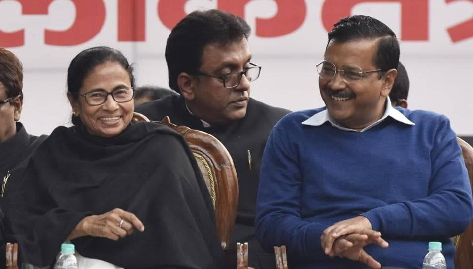Top leaders from many opposition parties will miss the brainstorming session called by PM Modi to discuss 'one-nation, one-poll' idea. BSPchief Mayawati and Delhi CM Arvind Kejriwal are the latest party bosses to decline the invite. DMK president MK Stalin, TMC chief Mamata Banerjee, TRS president K Chandrasekhar Rao and TDP chief N Chandrababu Naidu are among others skipping the Wednesday meet. (Sanjeev Verma / HT File)