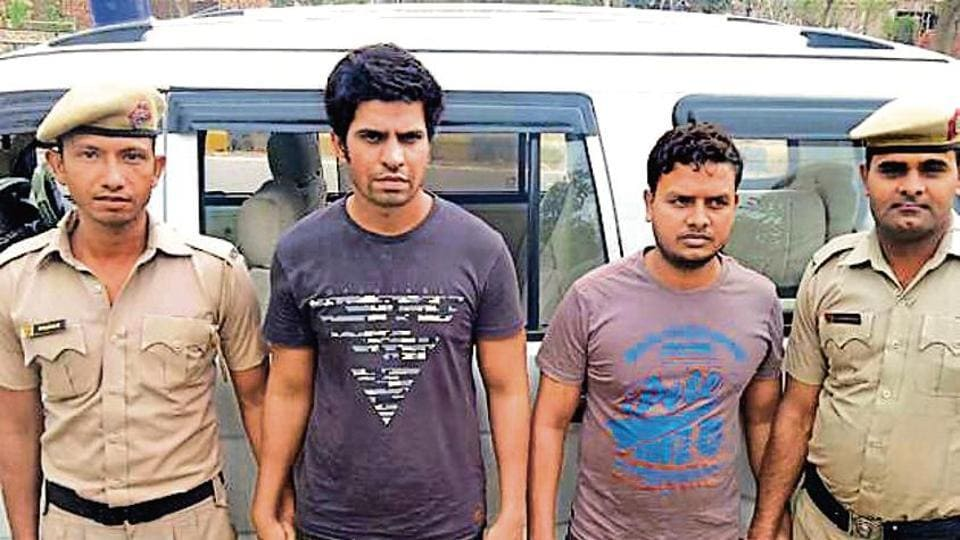 The police have arrested two former employees of a city-based software company for allegedly cheating the company of Rs 17.8 lakh by forging signatures.