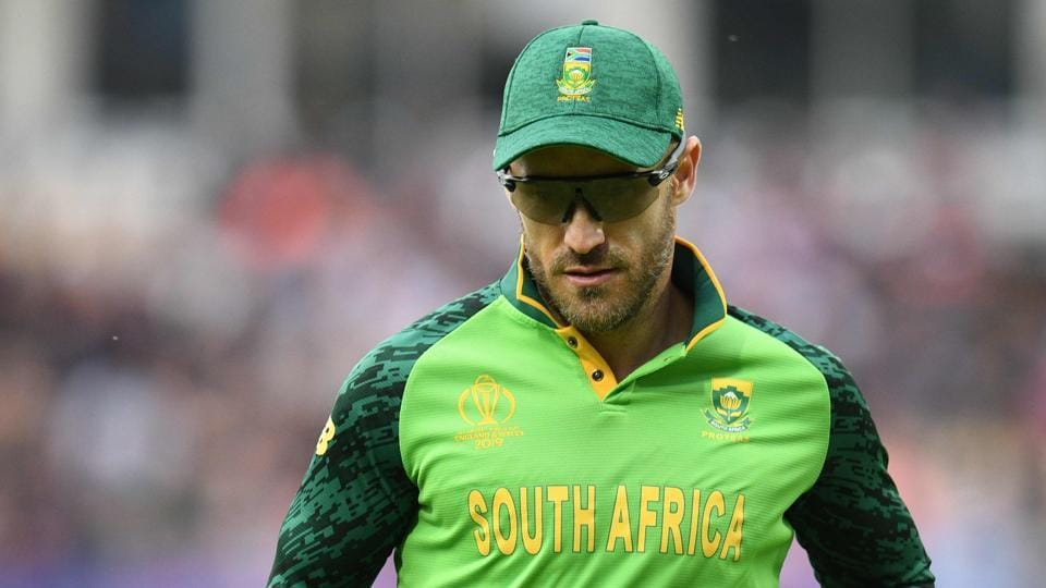 South Africa's captain Faf du Plessis.