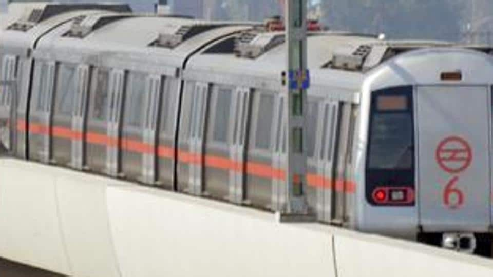 The Red Line, one of the six lines of the Delhi Metro, connects Rithala in Delhi to Ghaziabad's Shahid Sthal. The entirely elevated line has 29 stations cover 34.4 kilometres.