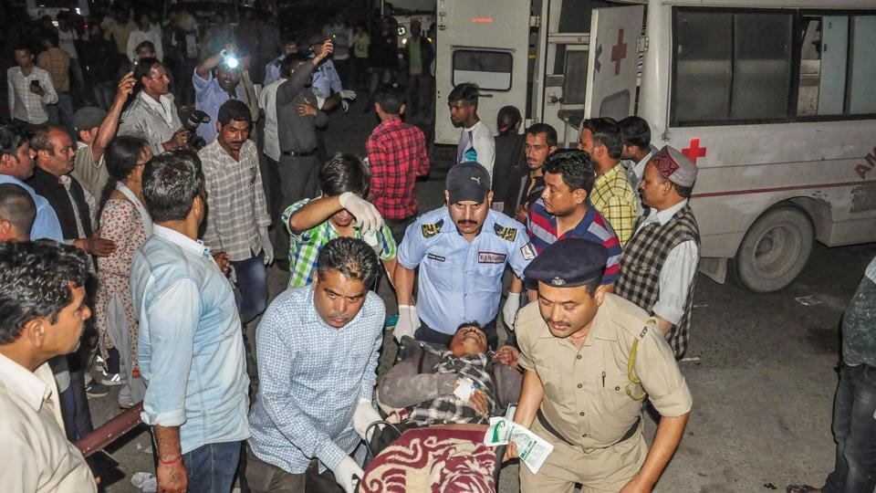 Rescue teams led by Banjar sub-divisional magistrate MR Bhardwaj rushed to the spot and shifted the injured to the hospital with the help of local villagers.