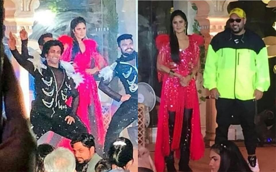Katrina Kaif and Badshah performed at the Rs 200-crore royal wedding in Auli on Thursday.