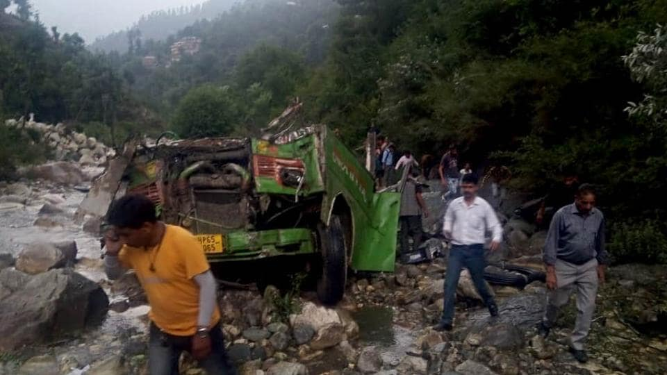 Banjar sub-divisional magistrate MR Bhardwaj said a total of 44 passengers have lost their lives while over 30 suffered injuries in the accident that took place on Thursday evening when an overloaded bus skidded off the road and fell into a 500-foot-deep gorge in Kullu district.