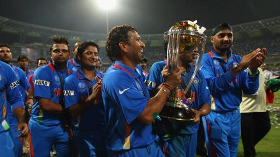 Representative image: Sachin Tendulkar lifts the ICC World Cup 2011 trophy at the Wankhede Stadium.