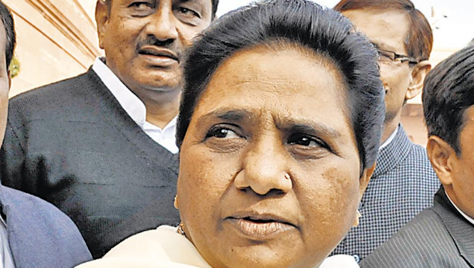 """BSP Leader Mayawati has ridiculed the BJP for """"engineering defection"""" of four TDP MPs in the Rajya Sabha"""