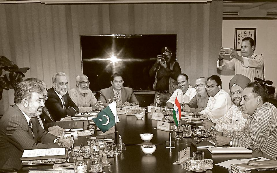 Indian and Pakistani members of the Indus Water Treat meet in Lahore, August 29, 2018. With Pakistan, there is no need for India to bend over backwards on water diplomacy