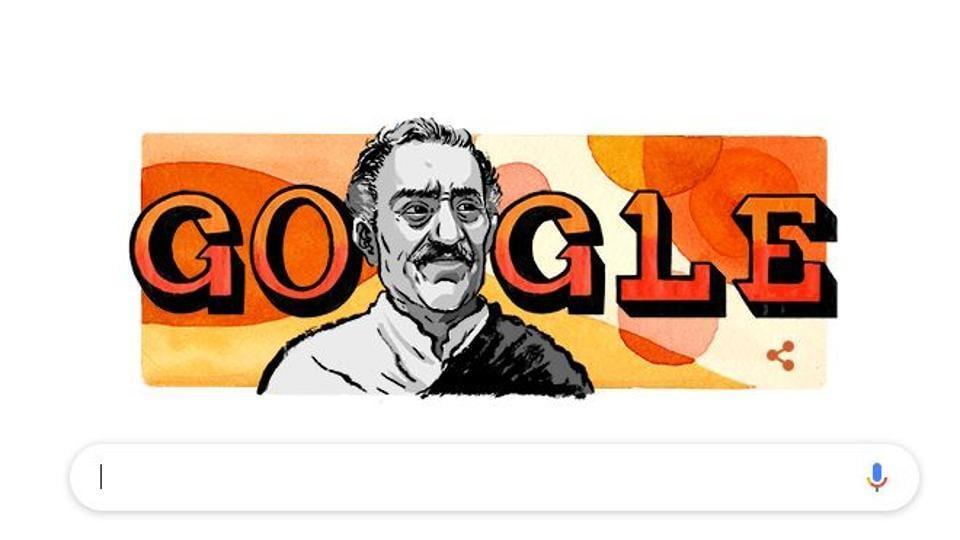 A google doodle onlate Amrish Puri.