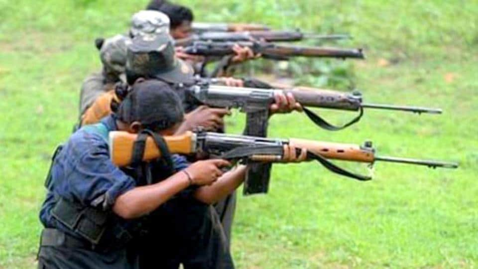 A policeman was killed by Maoists at a weekly market in Chhattisgarh's Bijapur district on Sunday, a police official said.