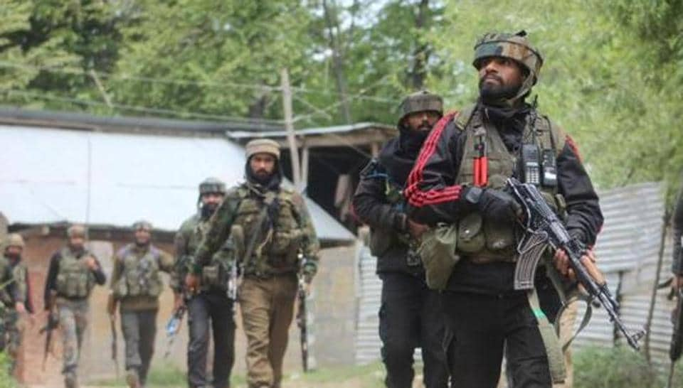 An encounter broke out between militants and security forces in Shopian district of Jammu and Kashmir Sunday, police said.