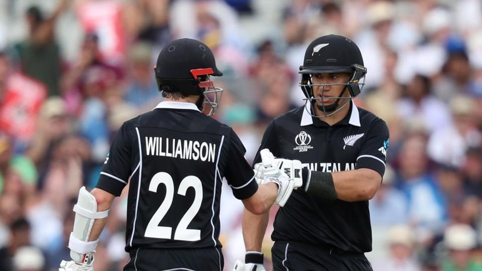 New Zealand's Kane Williamson and Ross Taylor during the match  (Action Images via Reuters)