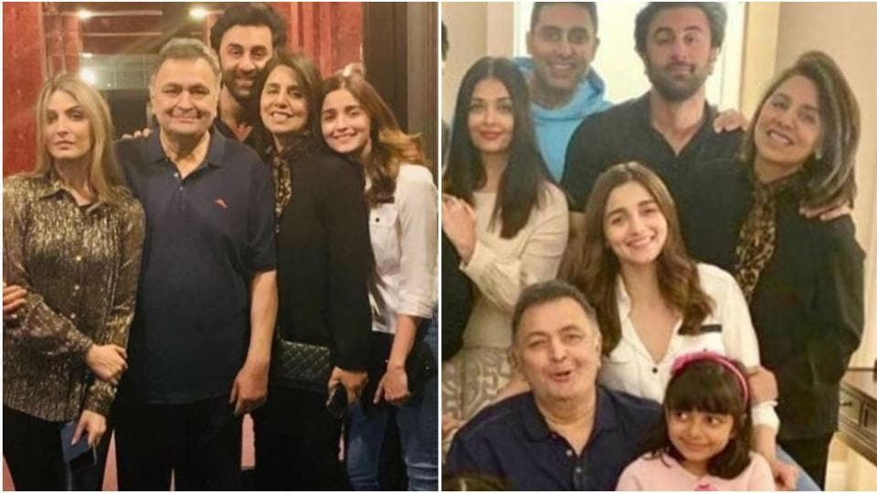 Ranbir & Aaradhya Steal All The Limelight From Aishwarya Rai & Alia While Posing With Rishi Kapoor!