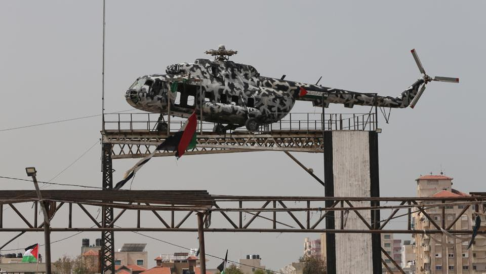 Arafat's helicopter – the presidential transport of a long-dead president – is now a rotorless relic on public display in Gaza City in the coastal enclave that is now controlled by the Palestinian Authority's most powerful domestic rival, Hamas. And the skeletons of the airport buildings lie gutted and abandoned next to Gaza's southern border with Egypt. (Ibraheem Abu Mustafa / REUTERS)