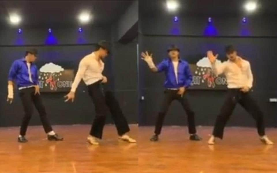Tiger Shroff performs Michael Jackson's dance steps but to the tune of Ranveer Singh's Khalibali. Watch