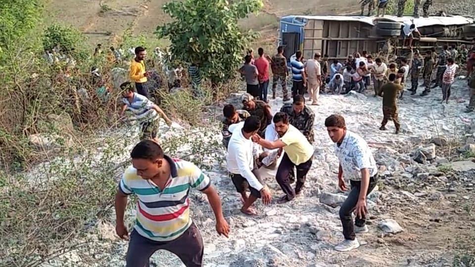 Jharkhand,Garhwa,Bus accident