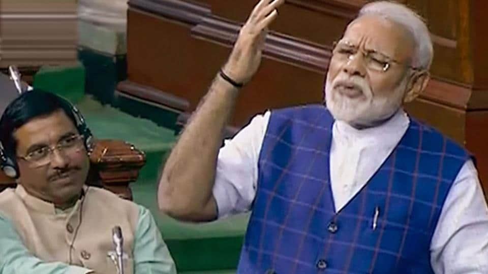 PM Modi said he didn't like making this point but was forced by Congress leaders who repeatedly accuse him of cornering credit.
