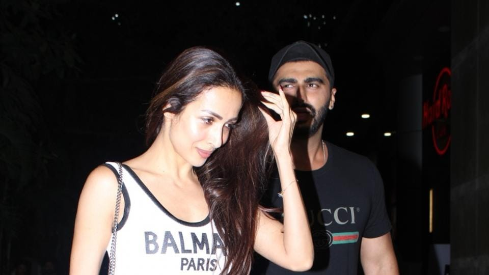 Actors Arjun Kapoor and Malaika Arora at the screening of his film India's Most Wanted in Mumbai.