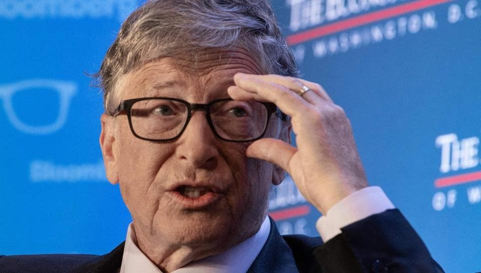 Microsoft co-founder Bill Gates speaks at the Economic Club of Washington's summer luncheon in Washington, DC, on June 24, 2019. (Photo by NICHOLAS KAMM / AFP)