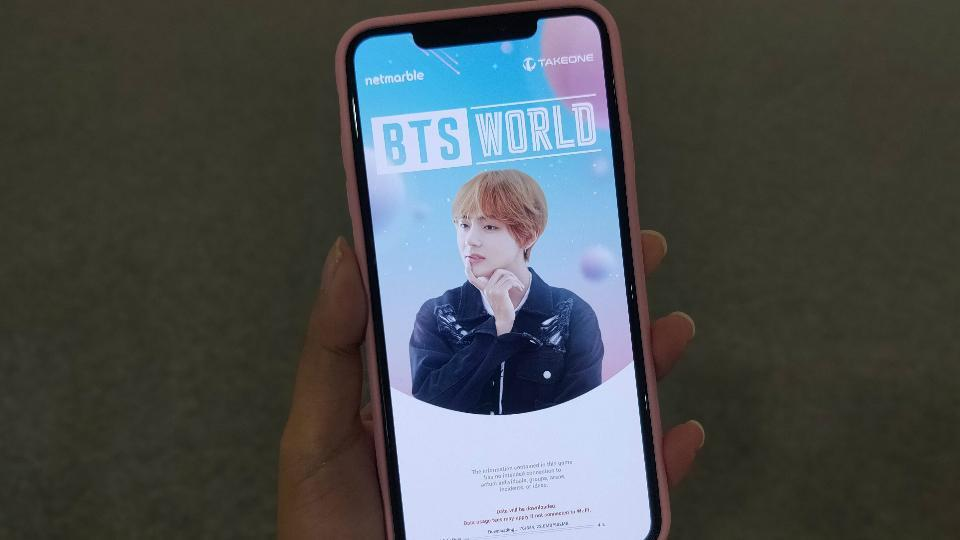BTS World on iOS.