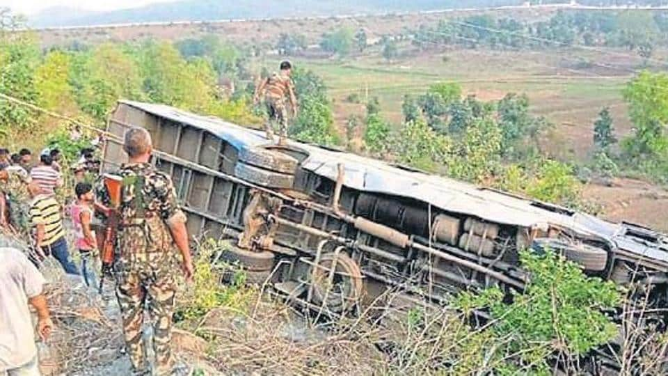 bus fall,Chhattisgarh,Chhattisgarh chief minister