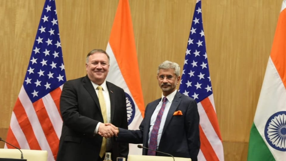 US Secretary of State Mike Pompeo sought to reduce heightened trade tension with India, promising a renewed focus on negotiating improved trade and investment ties between the two nations.(Photo by Arvind Yadav/HT)
