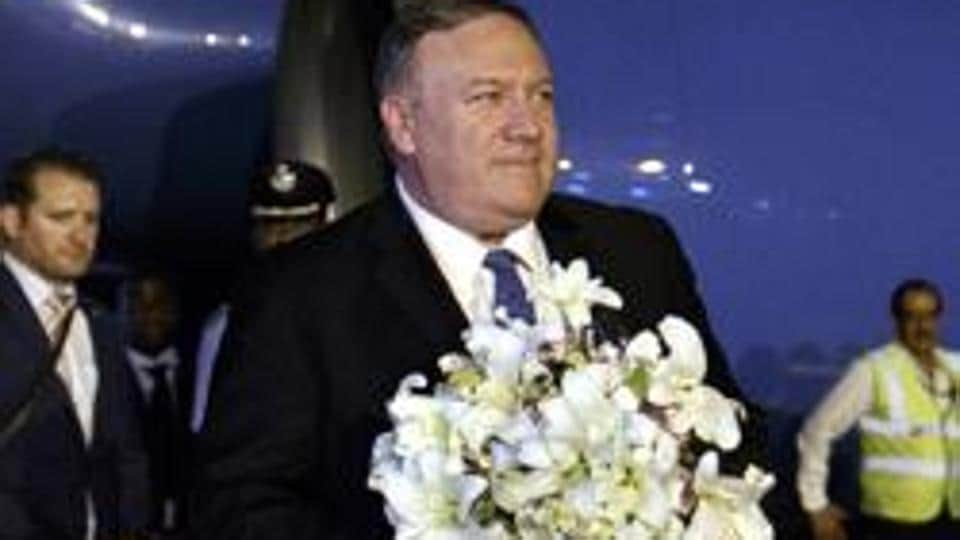 US Secretary of State Mike Pompeo arrived in New Delhi Tuesday night for talks with External Affairs Minister SJaishankar.