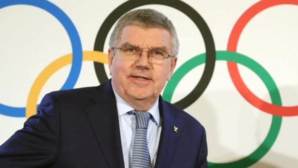 File photo of Thomas Bach, President of the International Olympic Committee (IOC) attends a news conference after an Executive Board meeting in Lausanne