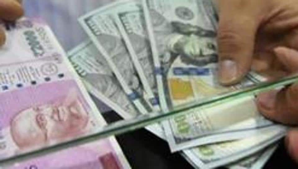 The rupee tumbled 16 paise to trade at 68.67 against the US dollar in early trade Wednesday amid unabated foreign fund outflows and rising crude oil prices.