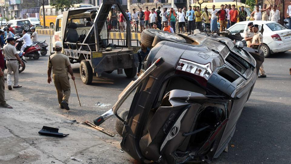 Three children killed and one injured after being run down by SUV in Patna on Wednesday