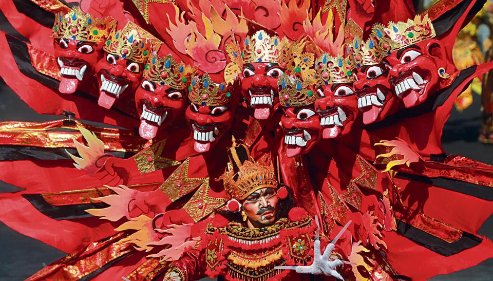 Ravana at a parade in Jember, East Java, Indonesia, on August 29, 2015.