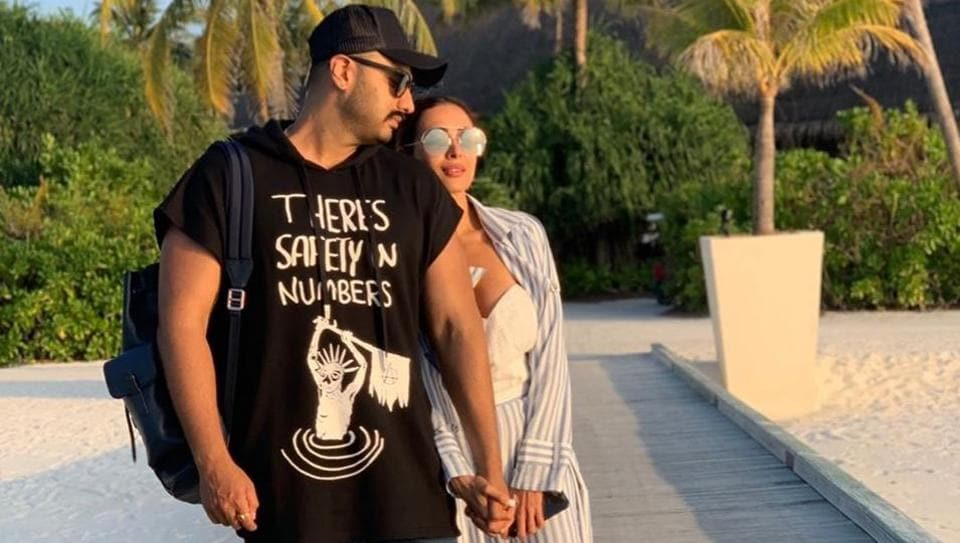 Malaika Arora with Arjun Kapoor on a vacation.