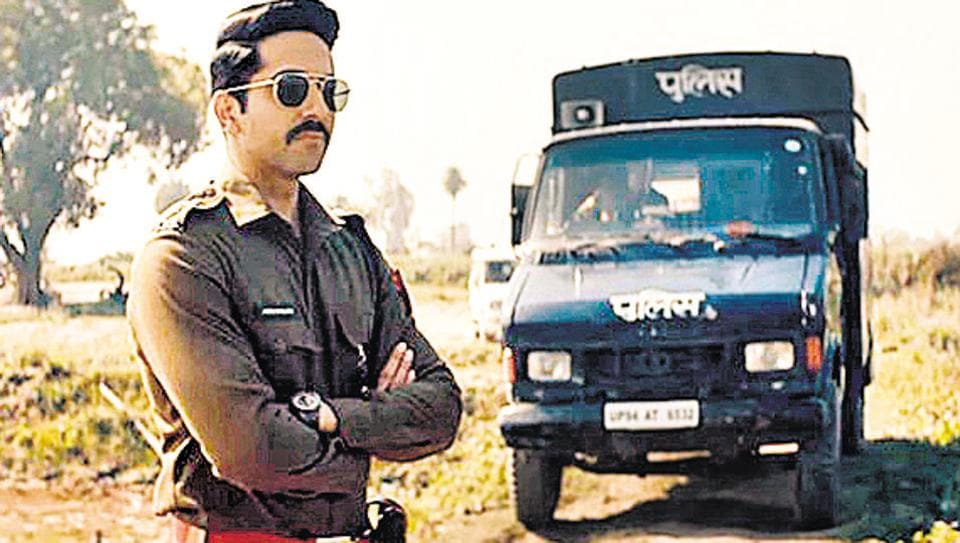 Ayushmann Khurrana in a gritty role. He plays a cop in Article 15, inspired by a real-life story