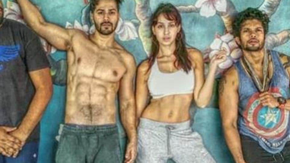 arun Dhawan and Nora Fatehi in new pic from Street Dancer 3D.