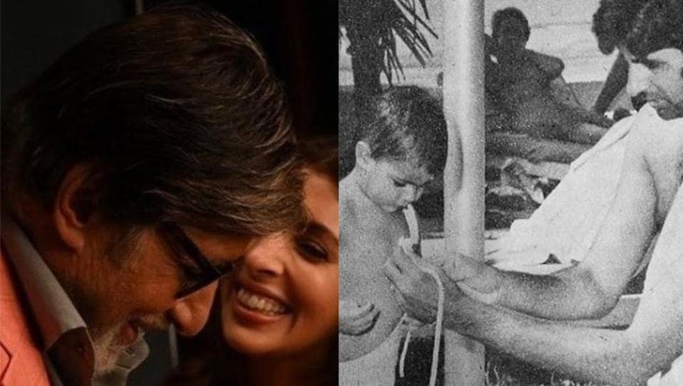 Amitabh Bachchan shares pictures with daughter Shweta.