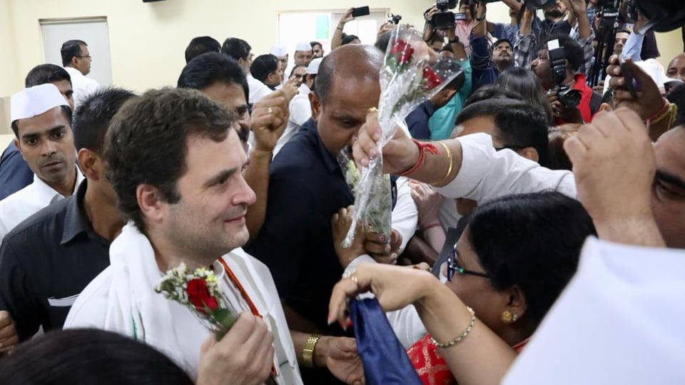 Asked about the party's strategy for upcoming assembly elections, Gandhi plainly told the leaders to discuss it among themselves, leaving the state unit in the lurch. (Photo @RahulGandhi)