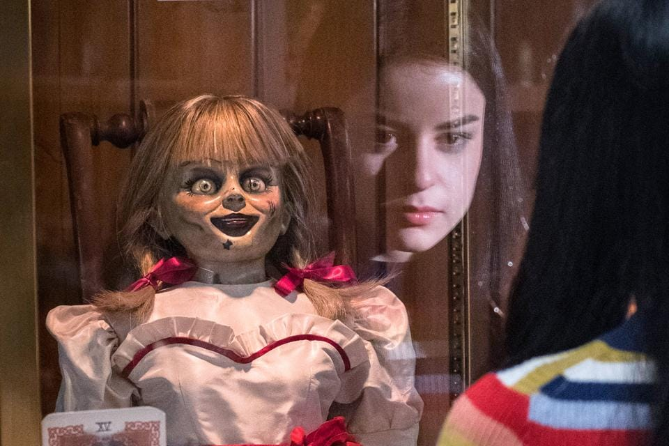 The demonic doll gets out of its glass case in the basement and all hell breaks loose for a demonologist couple, their daughter and her friends.