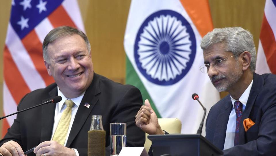 "With Indian external affairs minister, S Jaishankar by his side, Pompeo said countries which have signed up for BRI, a cluster of infrastructure projects connecting China to the rest of Asia and beyond, don't just have ""strings attached but shackles""."