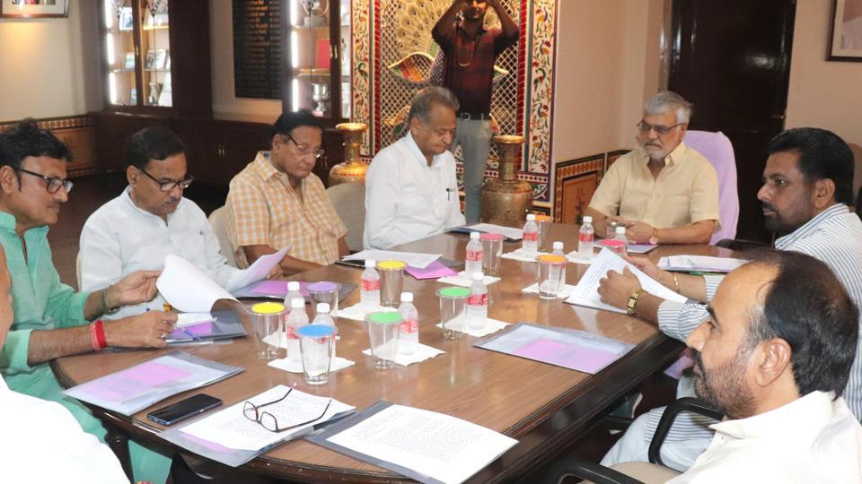 Rajasthan Assembly speaker CPJoshi held an all-party meeting on June 26, 2019, ahead of the start of budget session.