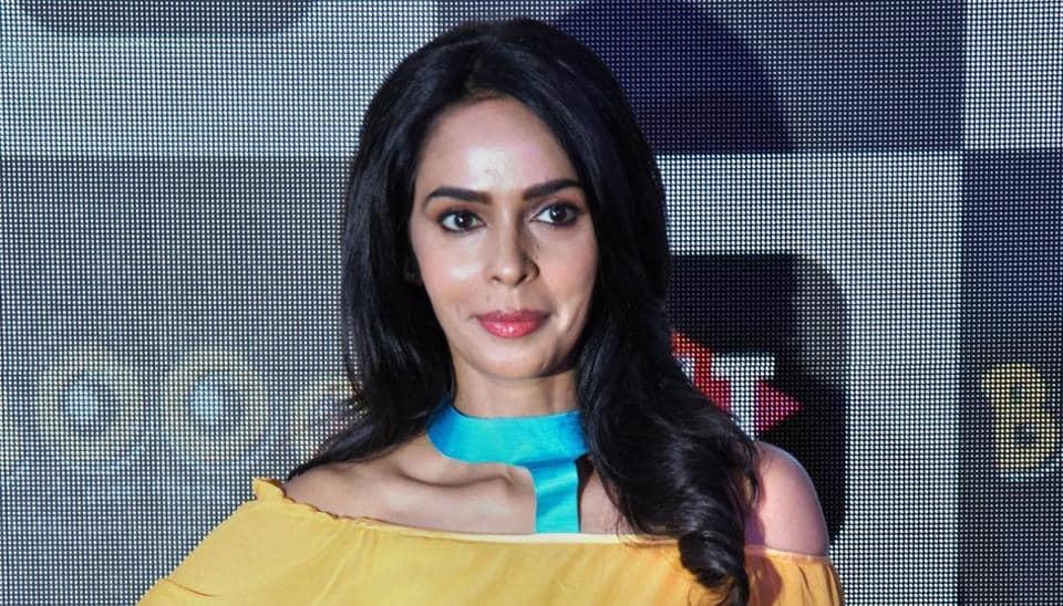 Mallika Sherawat during the launch of a web series 'Booo Sabki Phategi', in New Delhi, Thursday, June 27, 2019.
