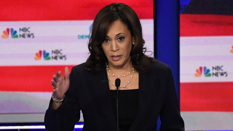 kamala Harris staked her claim to top-tier status in the Democratic primary with a searing indictment of Joe Biden.