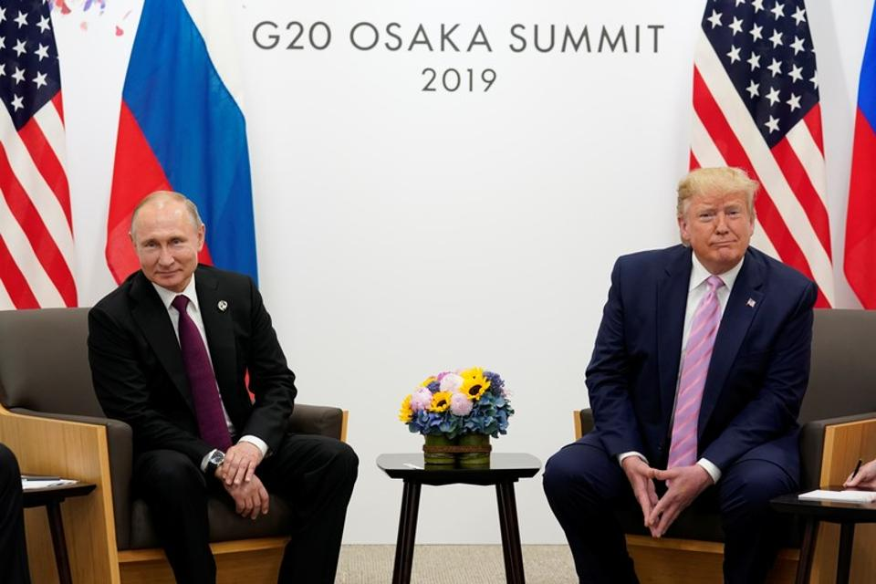 Donald Trump lightheartedly asked Russian President Vladimir Putin not to interfere in the upcoming US election during a meeting at the G20 summit.