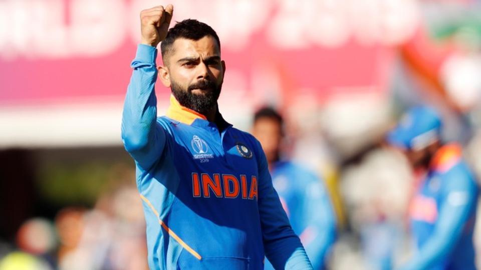 Virat Kohli in action during the ICC World Cup 2019 encounter between India and West Indies.