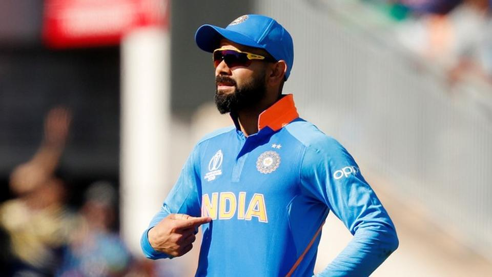 Virat Kohli became the first Indian captain to win his first five matches in a World Cup after India thumped West Indies by 125 runs at Old Trafford, Manchester on Thursday.