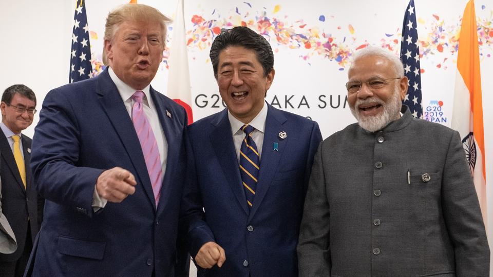 Prime Minister Narendra Modi, US President Donald Trump and Japan Prime Minister Shinzo Abe started their trilateral in Osaka.